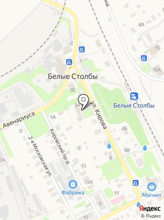 Территориальный отдел микрорайонов Белые столбы и Барыбино на карте