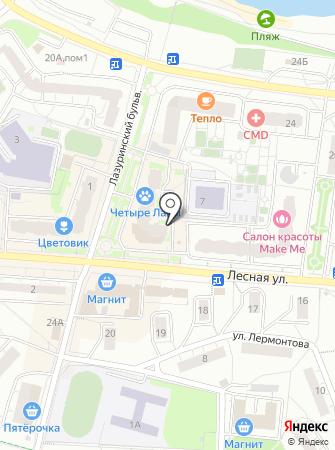 Мерлен на карте