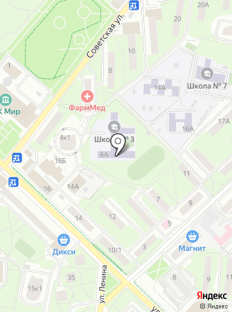 Средняя общеобразовательная школа №3 с углубленным изучением отдельных предметов на карте