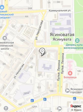 Ясиноватский городской центр социальных служб для семьи на карте