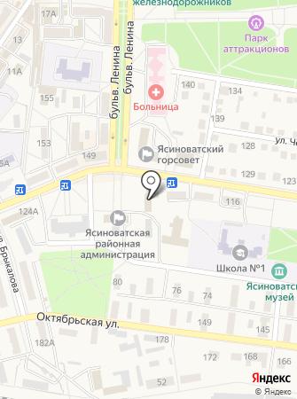 Управление труда и социальной защиты населения в Донецкой области на карте
