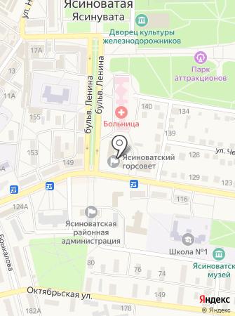 Отдел образования Ясиноватского городского совета на карте