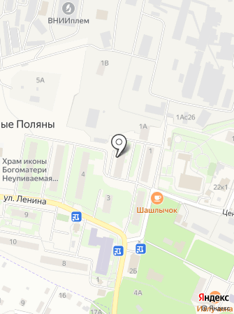 Амбулатория пос. Лесные Поляны на карте