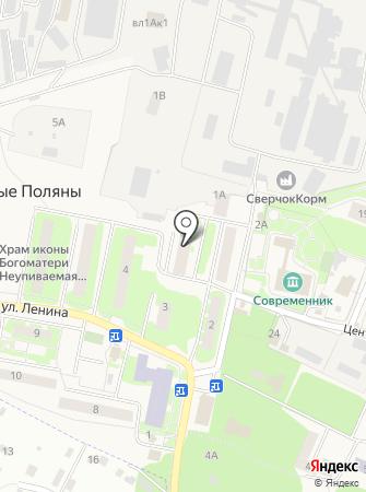 Амбулатория поселка Лесные Поляны на карте