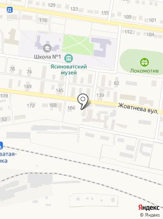 Ясиноватская межрайонная прокуратура на карте
