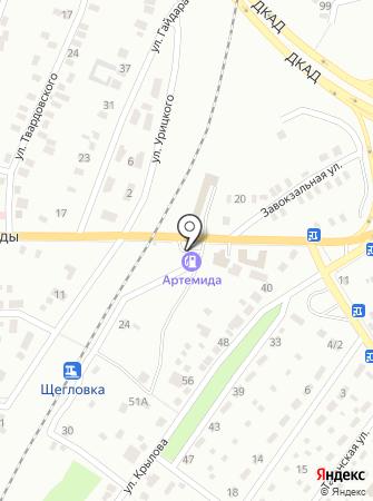 АЗС Артемида на карте