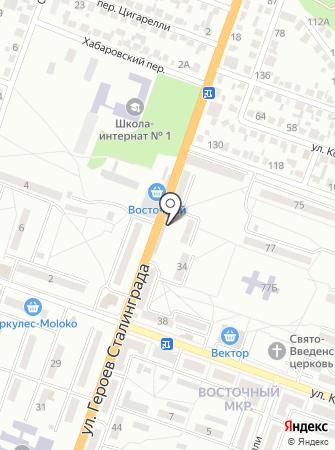 Автостоянка на ул. Героев Сталинграда на карте