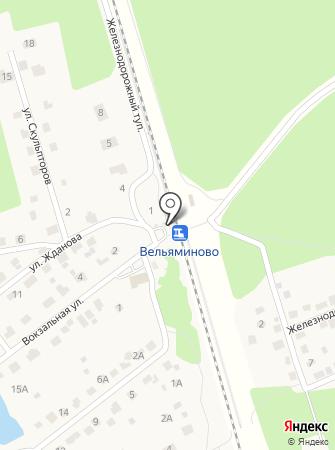 Вельяминово на карте