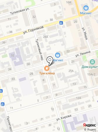 Три клёна на карте