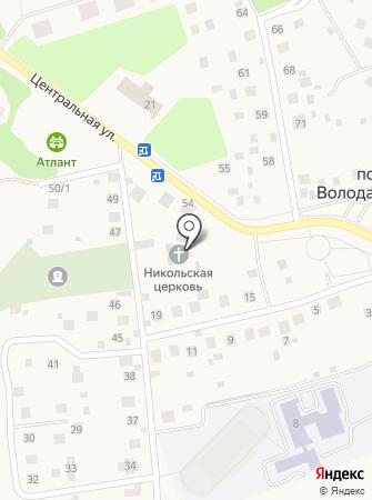 Церковь Николая Чудотворца в Володарском на карте