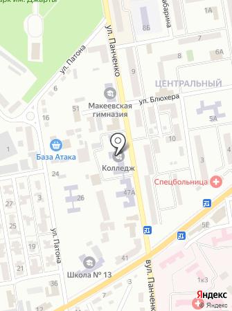Макеевский профессиональный горный лицей на карте