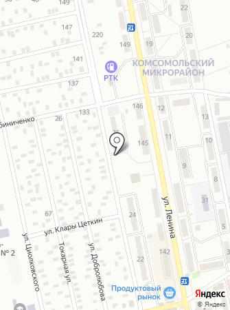 Автостоянка на ул. Парижской Коммуны на карте