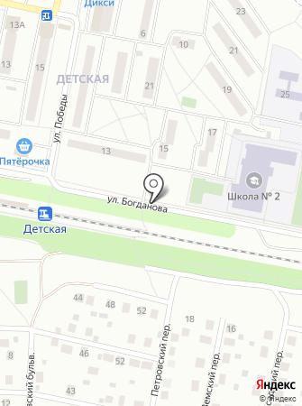 Автостоянка на ул. Богданова на карте