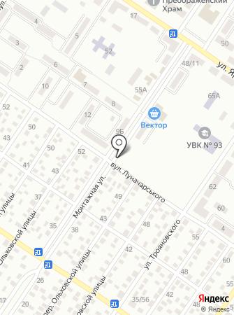 Автостоянка на ул. Руднева на карте