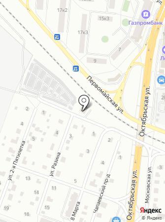 Автомойка на ул. Степана Разина на карте