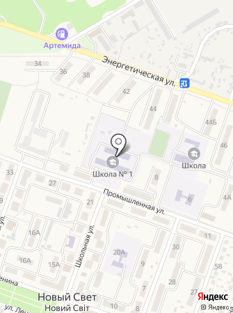 Новосветская общеобразовательная школа I-III ступеней на карте