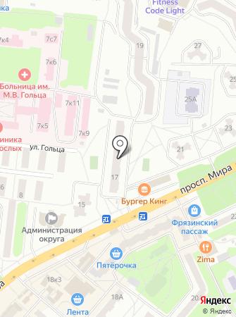 Фрязинский городской информационный центр на карте