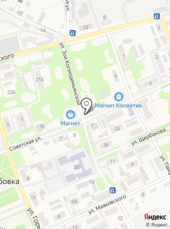 Синица на карте