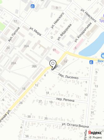 Автостоянка на Заречной на карте