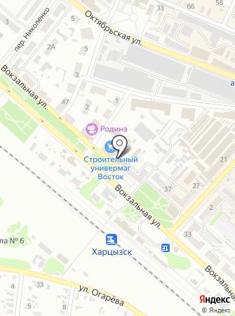 Харцызский городской отдел ГУМВД Украины в Донецкой области на карте