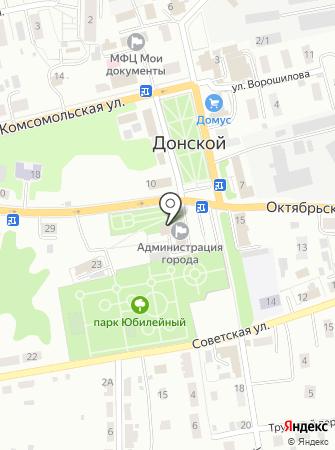Администрация муниципального образования г. Донской на карте