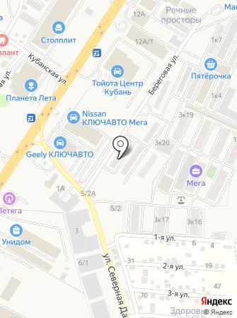 Береговой на карте