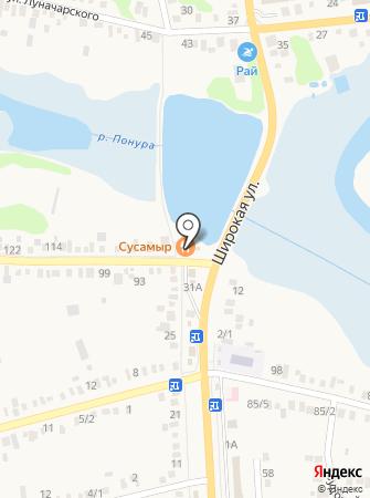 Сусамыр на карте