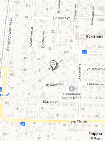 Продуктовый магазин на Советской (Южный) на карте