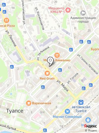 УФПС на карте