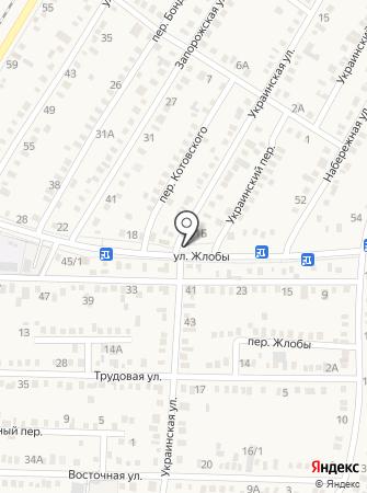 Автомойка на ул. Жлобы (Динская) на карте