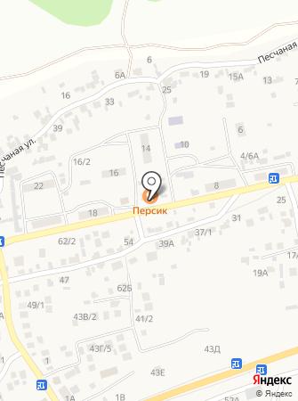 Персик на карте