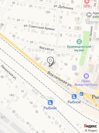 Кадастровая палата по Рыбновскому району на карте