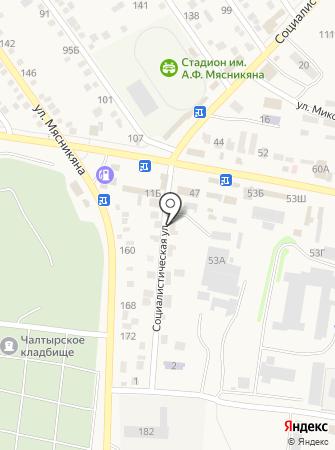 Детский сад №6, Золотая рыбка на карте
