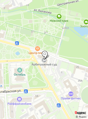 Арбитражный суд Липецкой области на карте
