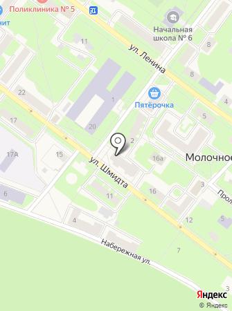 Магазин продуктов на ул. Шмидта на карте
