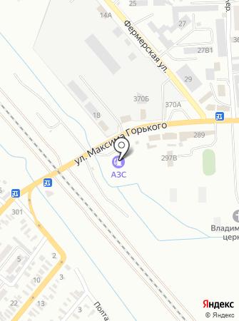 АЗС на ул. Максима Горького на карте