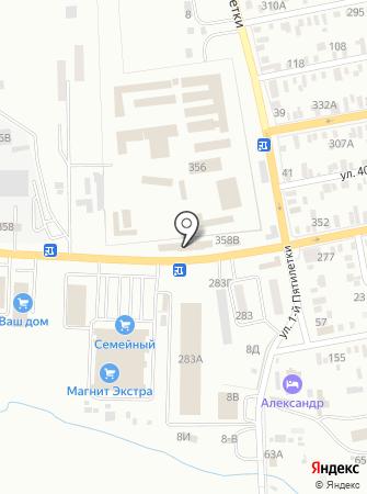 Юг-Строй на карте