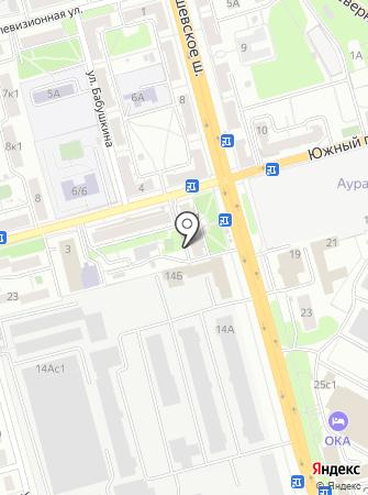 Сеть магазинов молочной продукции на карте