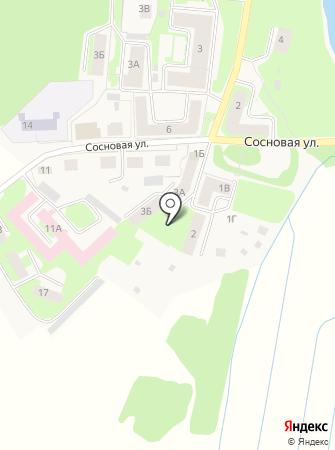 Строящийся жилой дом по ул. Сосновая(Кувшиново) на карте