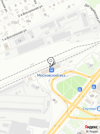 Вокзал Ярославль-Московский на карте