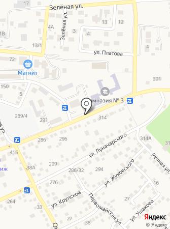 Акация на карте
