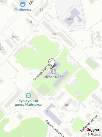 Средняя общеобразовательная школа №55 им. А.И. Анощенкова на карте
