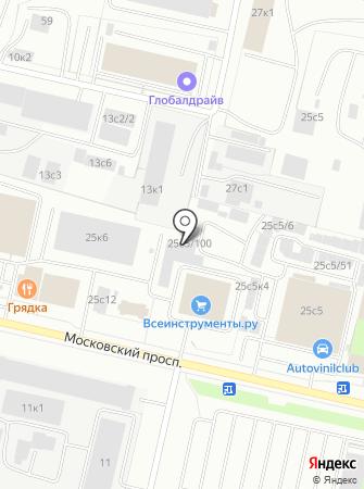 Автомастерская на Московском проспекте на карте