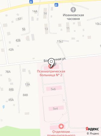 Архангельская клиническая психиатрическая больница на карте