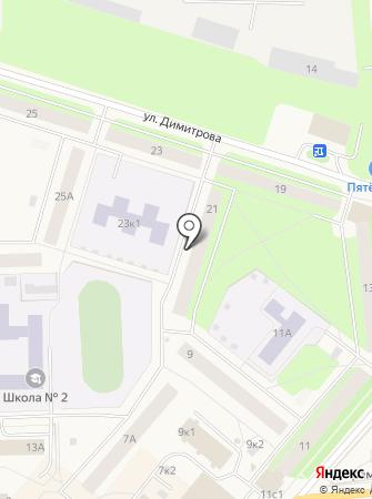 Уголовно-исполнительная инспекция Управления ФСИН России по г. Новодвинску на карте