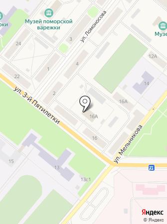 Новодвинское на карте
