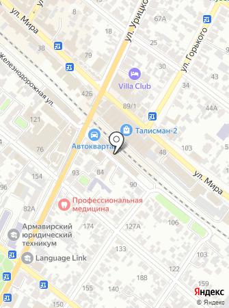 Магазин автозапчастей на Железнодорожной на карте