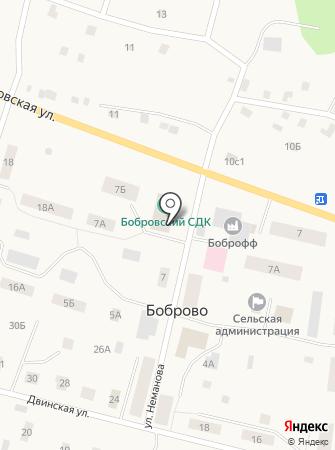 Бобровский сельский дом культуры на карте