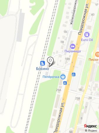 Пригородный железнодорожный вокзал на карте
