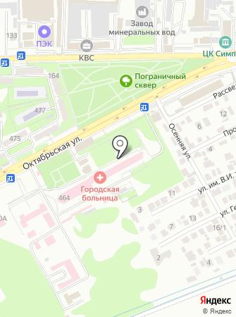Ессентукская городская больница на карте